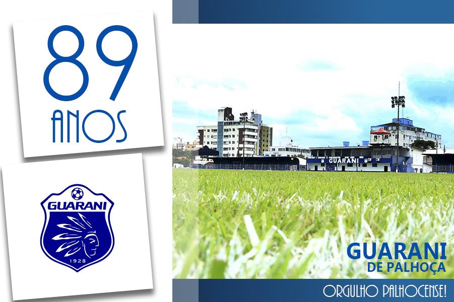DESDE 1928 COMENTE! Guarani de Palhoça completa 89 anos e reforça sua estrutura como empresa e clube formador